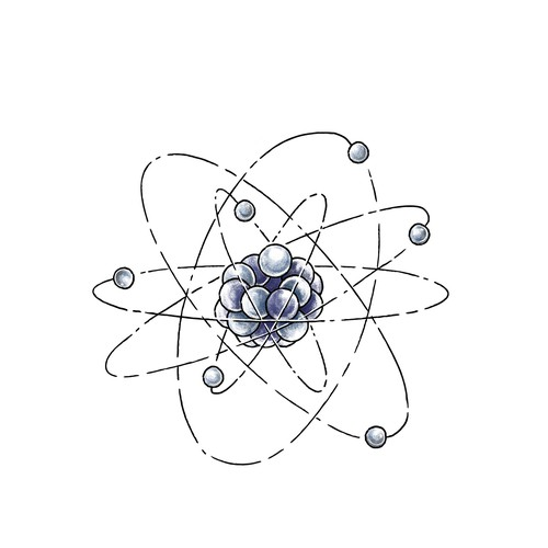 Carbon Atom Tattoo Design