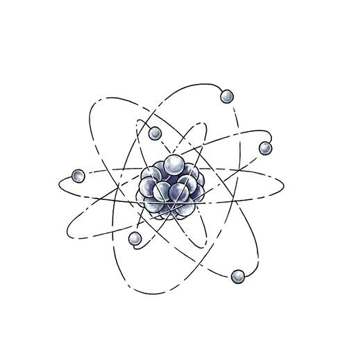 Carbon Atom Tattoo Design