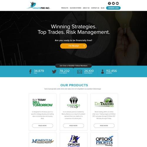 website design for Wealthpire Inc.