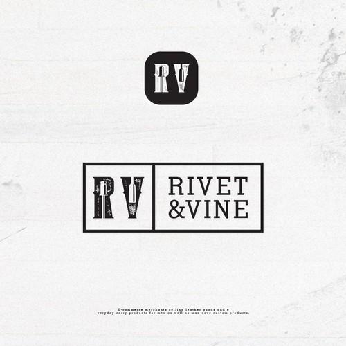 grunge logo Rivet