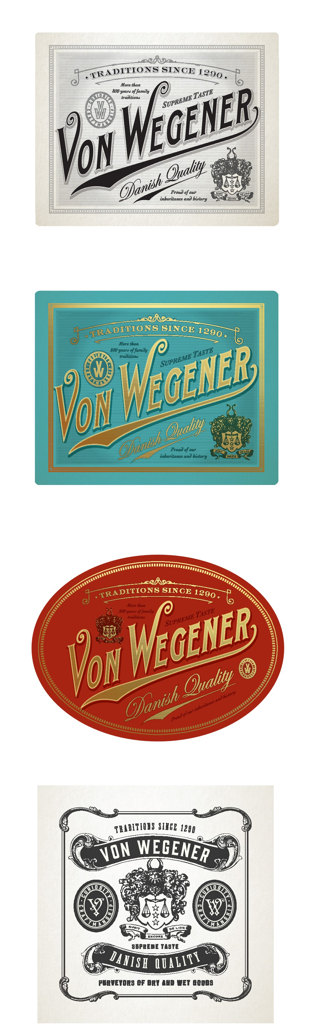 ROYAL FOOD LABEL (For instance for Salmon or cheese) .  Capture Royal elegance and ancient nordic spirit - with a viking
