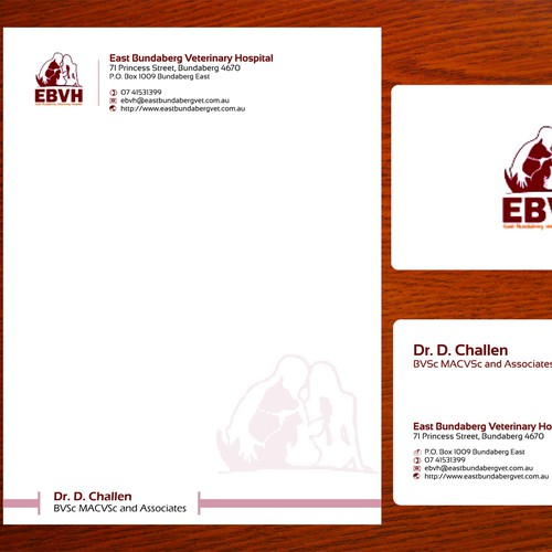 Create the next stationery for East Bundaberg Veterinary Hospital