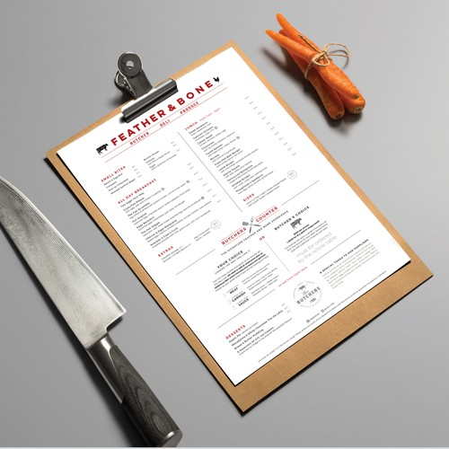 Menu Design for a premium Deli with an Eat-In restaurant