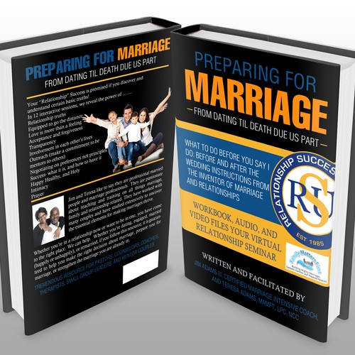 "Book Cover Design for ""Preparing for Marriage""- From Dating til Death Due Us Part"