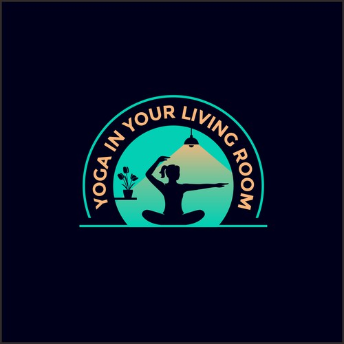 Logo Identity for *YOGA in Your LIVING ROOM*