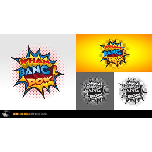 Wham Bang Pow! logo design