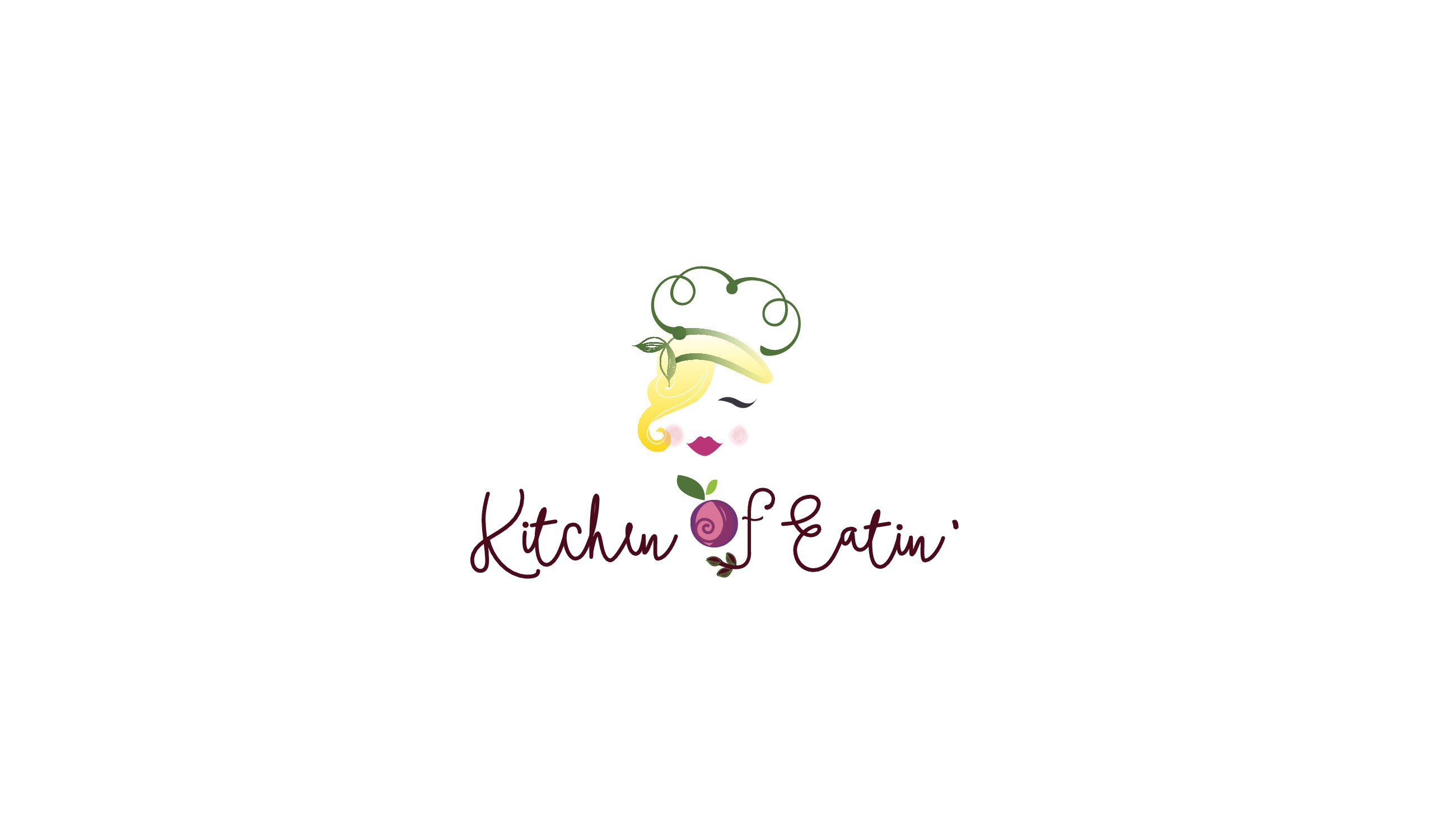Create a classic, feminine logo for a food blog
