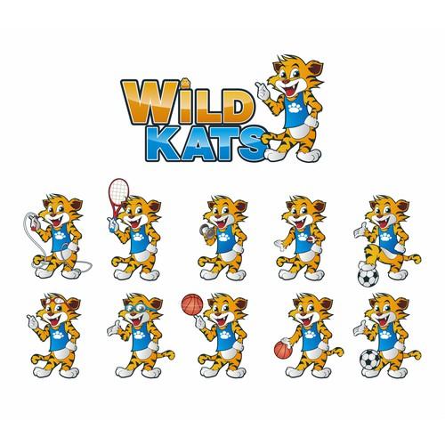Mascot logo for Wild Kats sport ivent