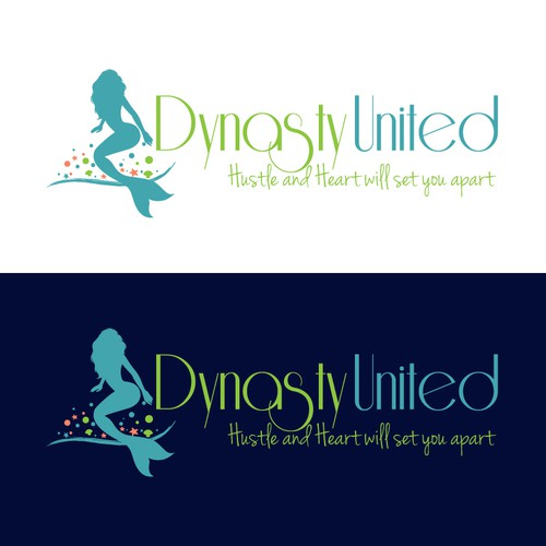 Fitness Entrepreneur Team logo design with ocean themes.