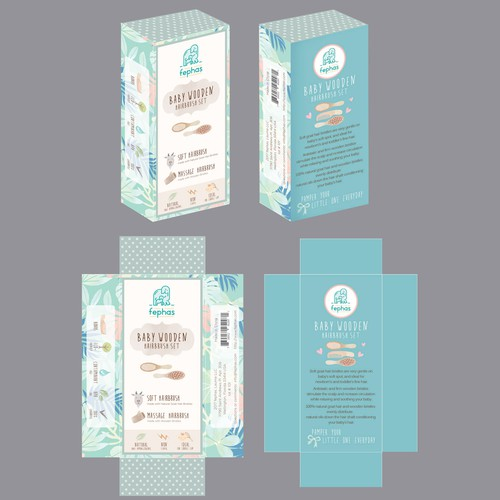 Baby product label design