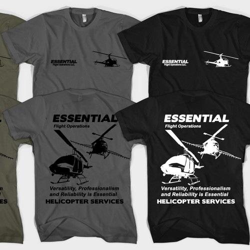 Small Helicopter Company wants a cool/professional T-Shirt