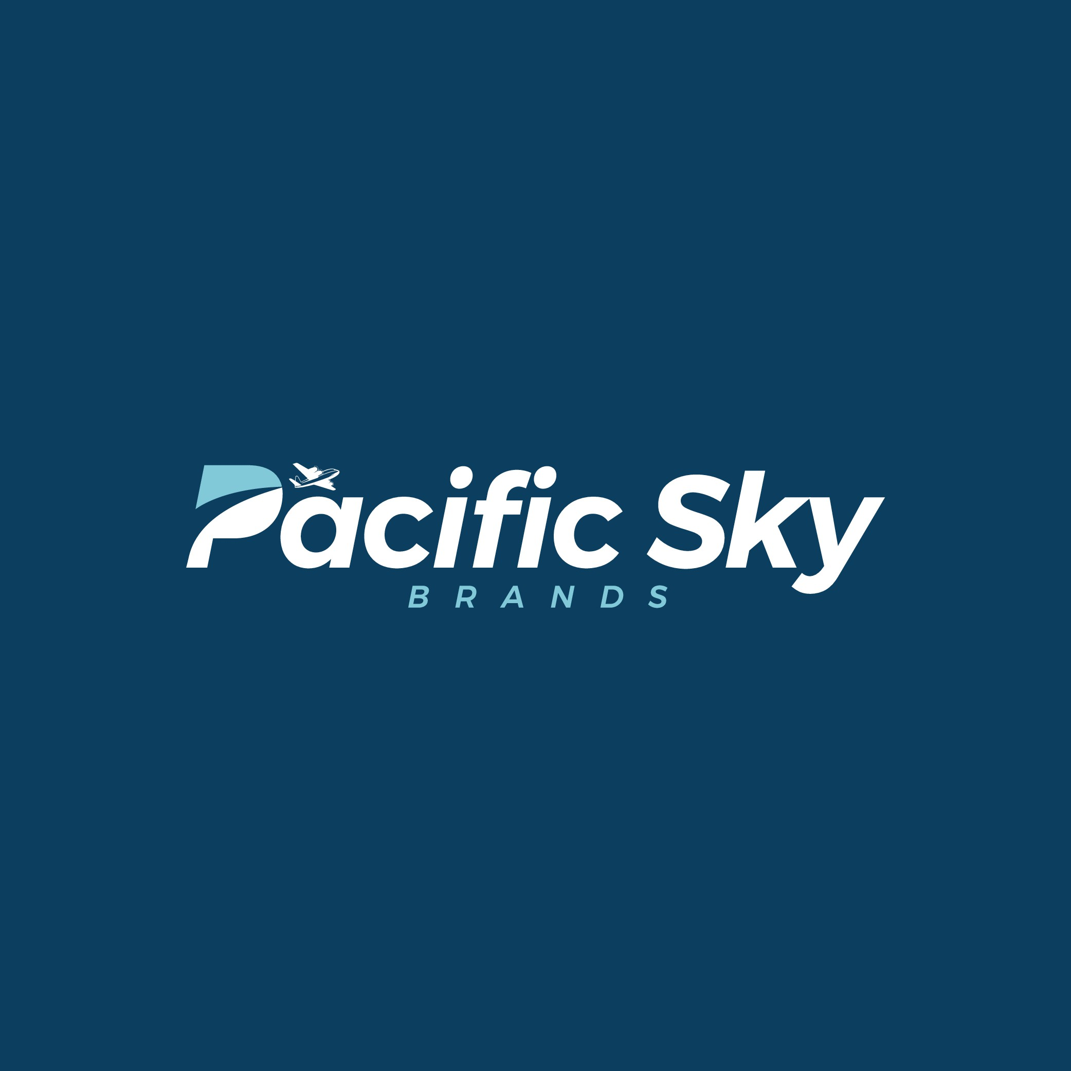 Clean, simple logo for Pacific Sky Brands
