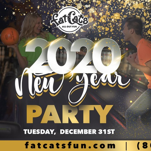 Advertising for 2020 new year party