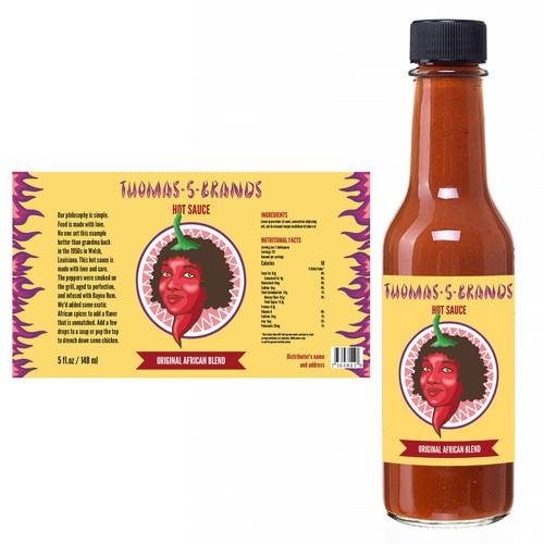 Hot Sauce Label