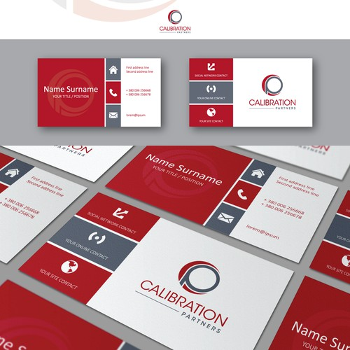Creating a logo and business card design for Calibration Partners