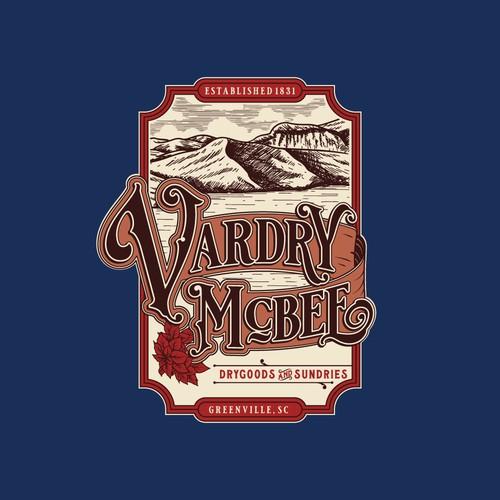 Vintage hand-drawn logo design for Vardry McBee