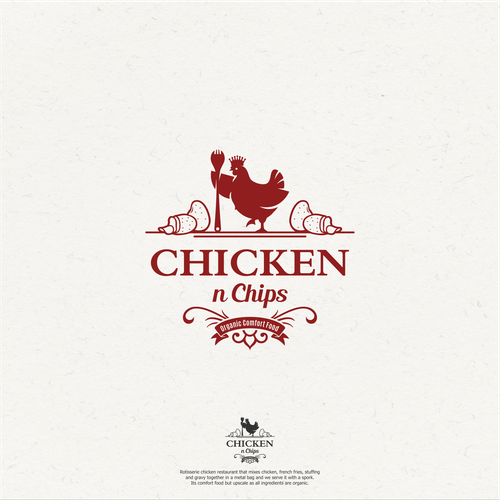 Bold logo concept for Chicken n Chips