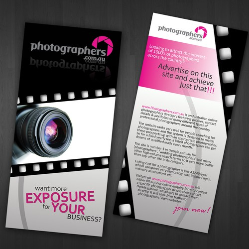 Simple, Clean Two-Sided DL Flyer - Photography Related