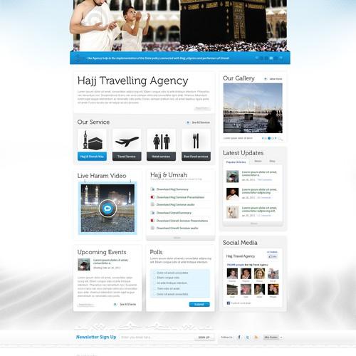 Hajj Travelling Agency needs a new website design