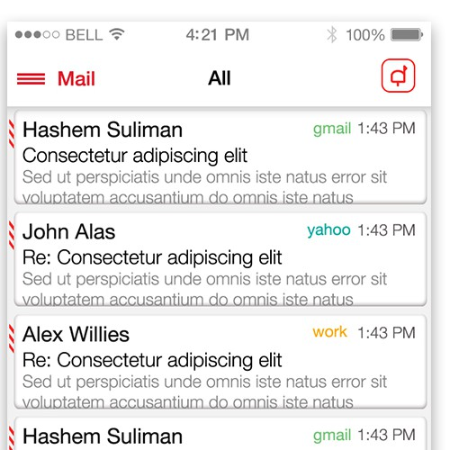 Complete UX design for a secure email application