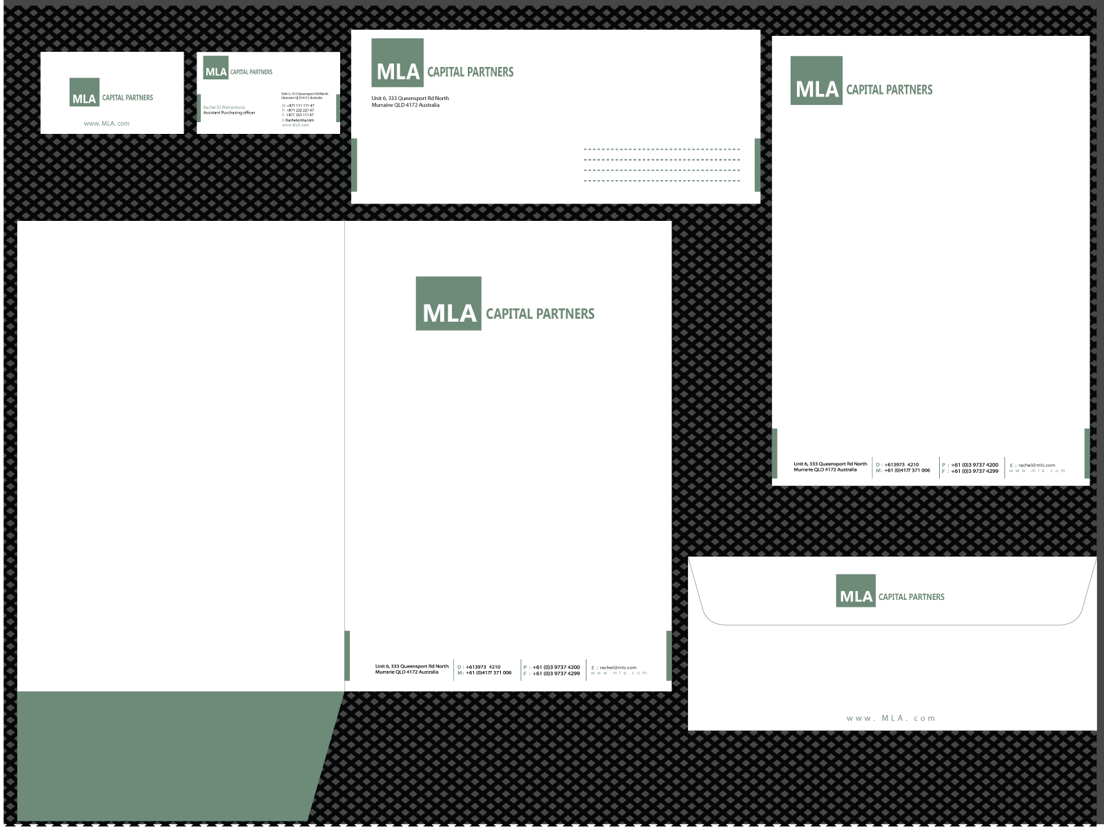 stationery for MLA Capital Partners