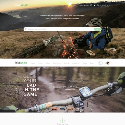 BikeJungle Website Design - Part 1