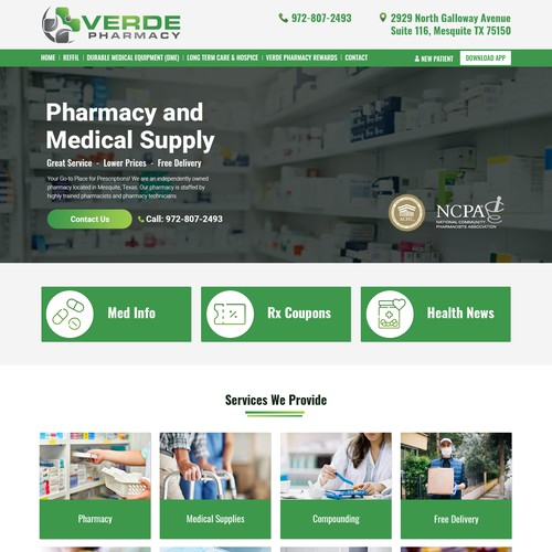 Verde Pharmacy Home Page