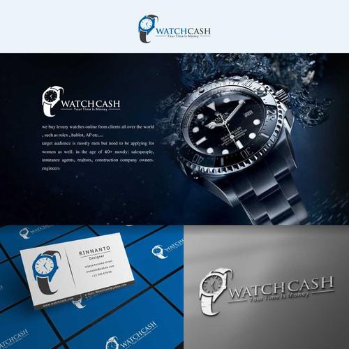 Watchcash simple and luxury logo design