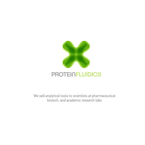 Logo for protein fluidics