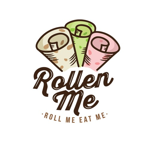 Roll Ice Cream Logo