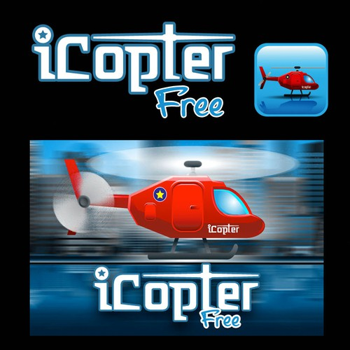 iCopter Free iPhone App Icon/Promo