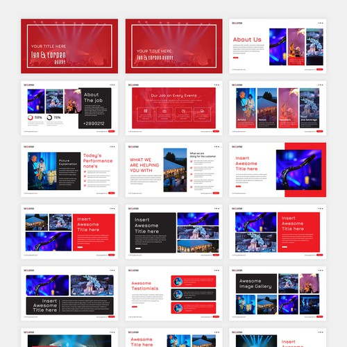 Powerpoint for event company