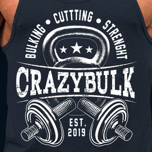CRAZY BULK  Crossfit T shit design