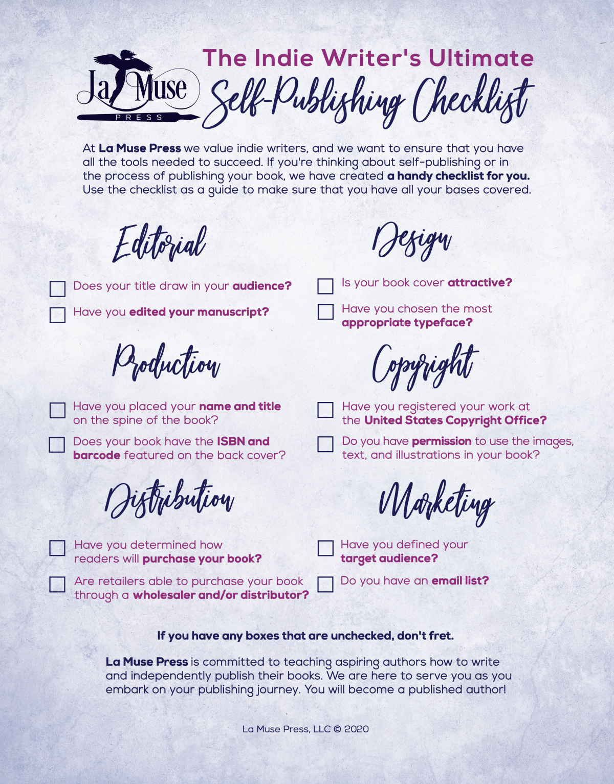 Checklist poster design