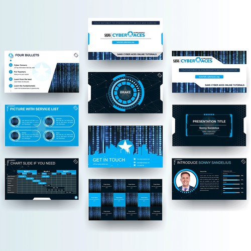 Hi-Tech Powerpoint Presentation