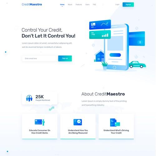 Credit Management Website Design and HTML