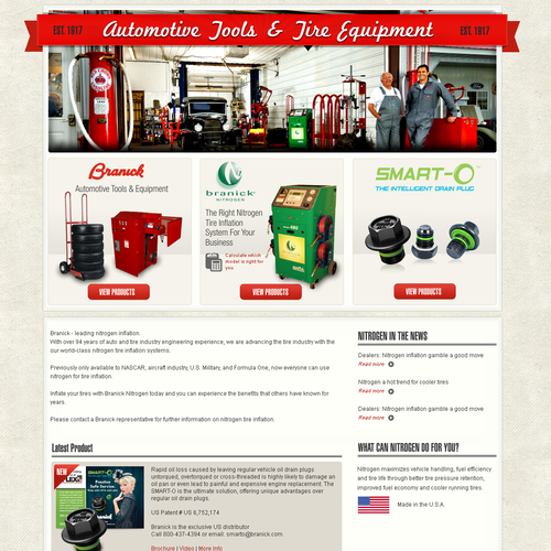 Help Branick Industries with a new website design