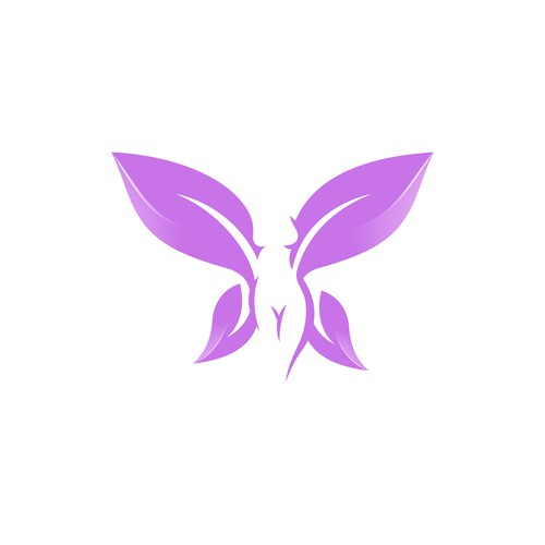Woman Butterfly - Leaves