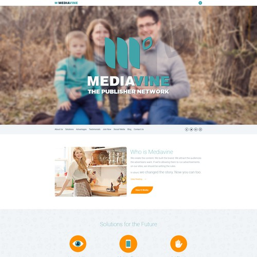 MeviaVine Homepage Design