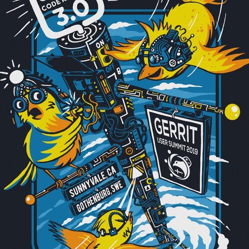T-shirt Design for Gerrit User Summit 2019