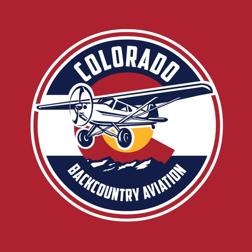 Bold Circle Colorado based Aviation logo