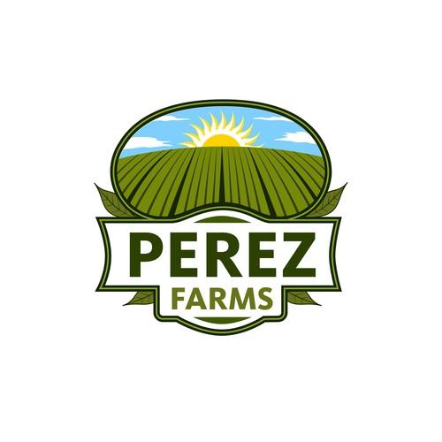 Perez Farms Logo Design