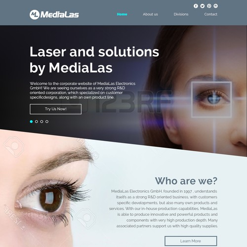 Landing page design for - Laser & solutions by MediaLas