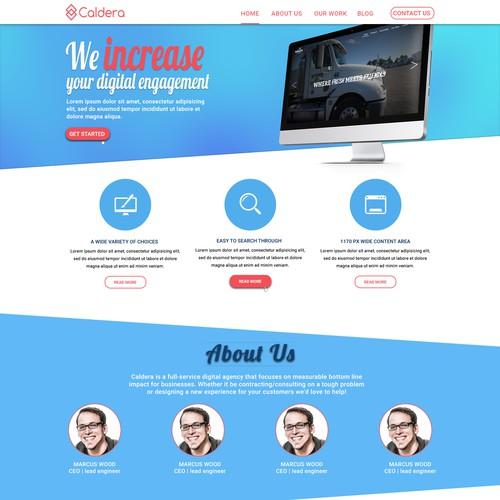 Web Design for Digital Agency Caldera