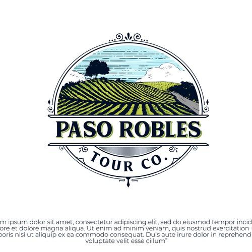 illustrative logo for a tour company in California