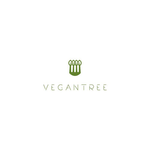 Logo concept for Vegan tree