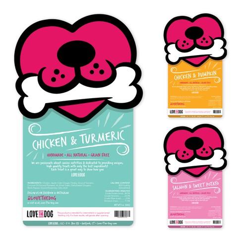Fun Dog Treat Packaging Label