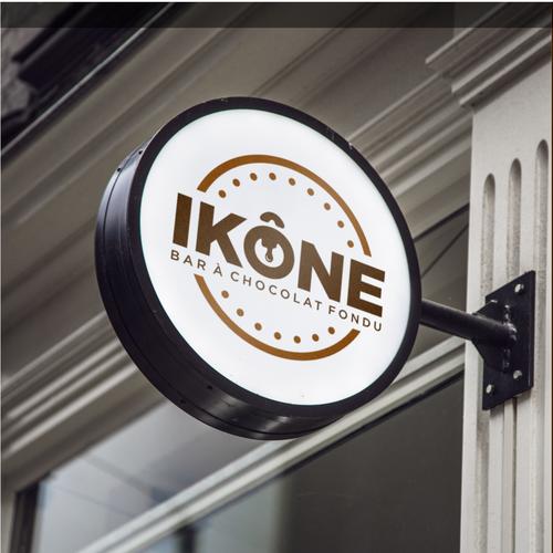 Simple logo for chocolate bar and fondu