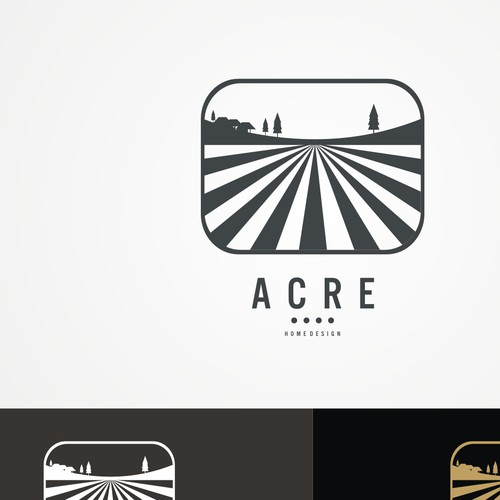 Create a logo for Acre. Building homes, delivering freedom.