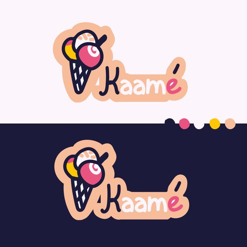 Logo for French & Persian-inspired Ice Cream store